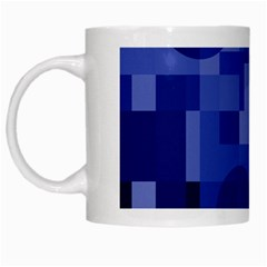 Deep blue abstract design White Mugs by Valentinaart