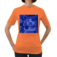 Deep Blue Abstract Design Women s Dark T Shirt by Valentinaart