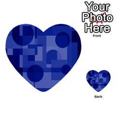 Deep Blue Abstract Design Multi Purpose Cards (heart)  by Valentinaart
