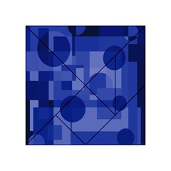 Deep Blue Abstract Design Acrylic Tangram Puzzle (4  X 4 ) by Valentinaart