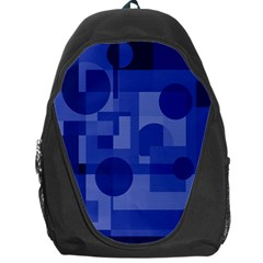 Deep Blue Abstract Design Backpack Bag by Valentinaart