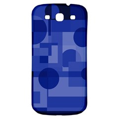 Deep Blue Abstract Design Samsung Galaxy S3 S Iii Classic Hardshell Back Case by Valentinaart