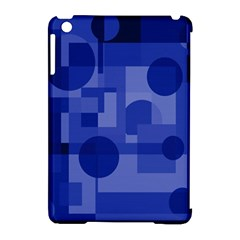 Deep Blue Abstract Design Apple Ipad Mini Hardshell Case (compatible With Smart Cover) by Valentinaart