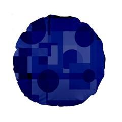 Deep Blue Abstract Design Standard 15  Premium Round Cushions by Valentinaart