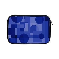 Deep Blue Abstract Design Apple Ipad Mini Zipper Cases by Valentinaart
