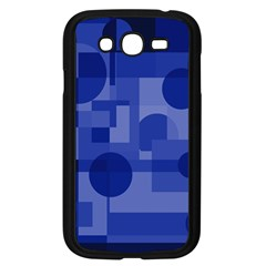 Deep Blue Abstract Design Samsung Galaxy Grand Duos I9082 Case (black) by Valentinaart