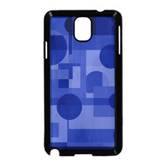 Deep Blue Abstract Design Samsung Galaxy Note 3 Neo Hardshell Case (black) by Valentinaart