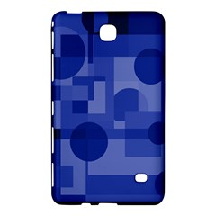 Deep blue abstract design Samsung Galaxy Tab 4 (8 ) Hardshell Case  by Valentinaart