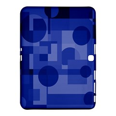 Deep Blue Abstract Design Samsung Galaxy Tab 4 (10 1 ) Hardshell Case  by Valentinaart