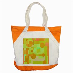 Green And Orange Decorative Design Accent Tote Bag by Valentinaart