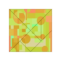 Green And Orange Decorative Design Acrylic Tangram Puzzle (4  X 4 ) by Valentinaart