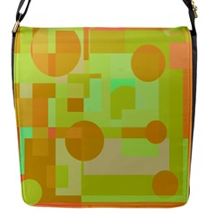 Green And Orange Decorative Design Flap Messenger Bag (s) by Valentinaart