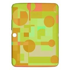 Green And Orange Decorative Design Samsung Galaxy Tab 3 (10 1 ) P5200 Hardshell Case  by Valentinaart
