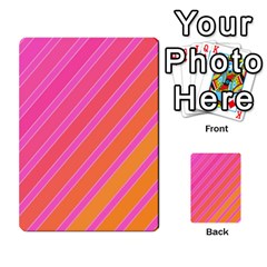 Pink Elegant Lines Multi Purpose Cards (rectangle)