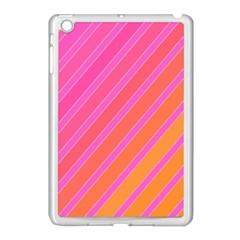 Pink Elegant Lines Apple Ipad Mini Case (white) by Valentinaart
