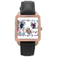 Picmix Com 5004827 Rose Gold Leather Watch  by jpcool1979