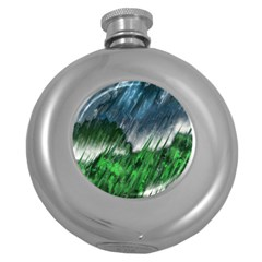 Bluegreen Round Hip Flask (5 oz) by tsartswashington