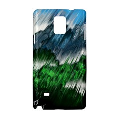 Bluegreen Samsung Galaxy Note 4 Hardshell Case by tsartswashington