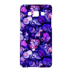 Blue Ink Rain On Glass Samsung Galaxy A5 Hardshell Case  by KirstenStar
