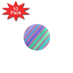 Pastel Colorful Lines 1  Mini Magnet (10 Pack)  by Valentinaart