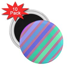 Pastel Colorful Lines 2 25  Magnets (10 Pack)  by Valentinaart