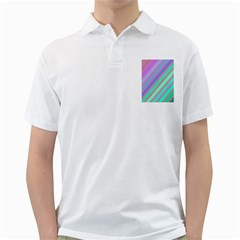 Pastel Colorful Lines Golf Shirts by Valentinaart