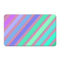 Pastel Colorful Lines Magnet (rectangular) by Valentinaart