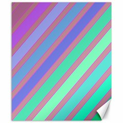 Pastel Colorful Lines Canvas 8  X 10  by Valentinaart