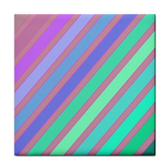 Pastel Colorful Lines Face Towel by Valentinaart
