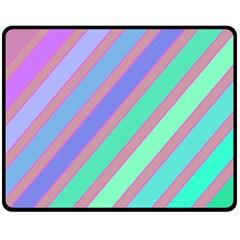 Pastel Colorful Lines Fleece Blanket (medium)  by Valentinaart