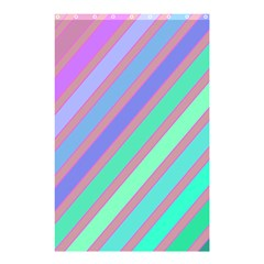 Pastel Colorful Lines Shower Curtain 48  X 72  (small)  by Valentinaart