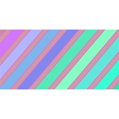 Pastel Colorful Lines You Are Invited 3d Greeting Card (8x4)