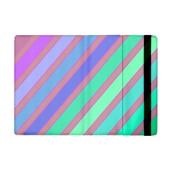 Pastel Colorful Lines Apple Ipad Mini Flip Case by Valentinaart