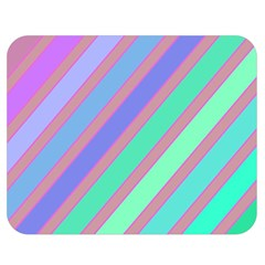 Pastel Colorful Lines Double Sided Flano Blanket (medium)  by Valentinaart