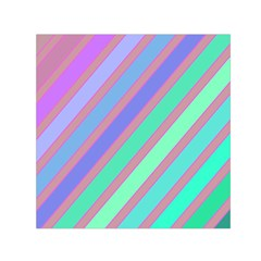 Pastel Colorful Lines Small Satin Scarf (square) by Valentinaart