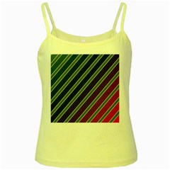 Decorative Lines Yellow Spaghetti Tank by Valentinaart
