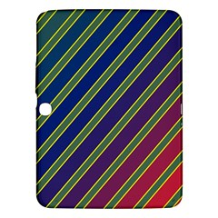 Decorative Lines Samsung Galaxy Tab 3 (10 1 ) P5200 Hardshell Case  by Valentinaart