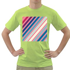 Colorful Lines Green T Shirt by Valentinaart