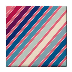 Colorful Lines Face Towel by Valentinaart