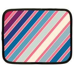 Colorful Lines Netbook Case (xxl)  by Valentinaart