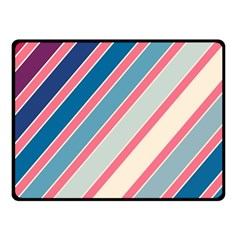 Colorful Lines Fleece Blanket (small) by Valentinaart