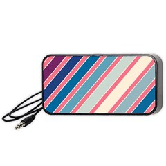 Colorful Lines Portable Speaker (black)  by Valentinaart