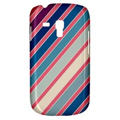 Colorful Lines Samsung Galaxy S3 Mini I8190 Hardshell Case by Valentinaart