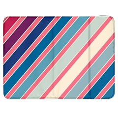 Colorful Lines Samsung Galaxy Tab 7  P1000 Flip Case by Valentinaart