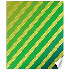 Green And Yellow Lines Canvas 8  X 10  by Valentinaart