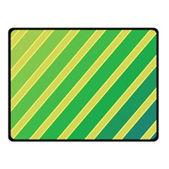 Green And Yellow Lines Fleece Blanket (small) by Valentinaart