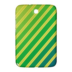 Green And Yellow Lines Samsung Galaxy Note 8 0 N5100 Hardshell Case  by Valentinaart