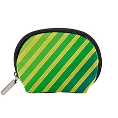 Green And Yellow Lines Accessory Pouches (small)