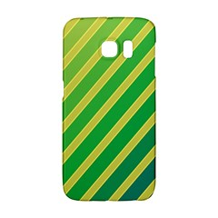 Green And Yellow Lines Galaxy S6 Edge by Valentinaart