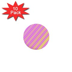 Pink And Yellow Elegant Design 1  Mini Buttons (10 Pack)  by Valentinaart